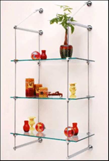 glass shelves custom cut prefabricated kits. Black Bedroom Furniture Sets. Home Design Ideas
